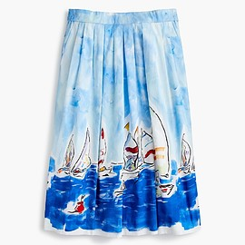 J.CREW - painted regatta midi skirt