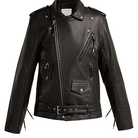 TOGA - Lace-up leather biker jacket