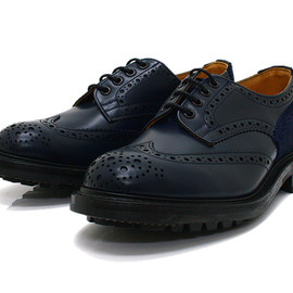 Tricker's for EHS - Two Tone Derby Brogues - Navy M7292