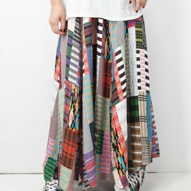ANREALAGE - ■SLIM&LONG PATCHWORK PRINT SKIRT