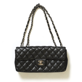 CHANEL - Quilted Punching Leather Handbag