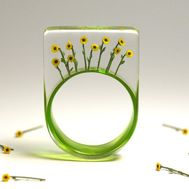 GeschmeideUnterTeck - Bloomy sun - summerly flower ring