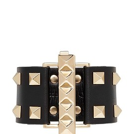 VALENTINO - 'Rockstud' tier leather bracelet