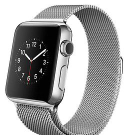 Apple - WATCH 38mm Stainless Steel with Milanese Loop