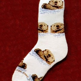Critter Socks - Sea Otter Socks from Critter Socks