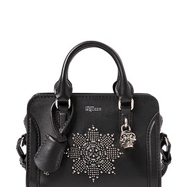 Alexander McQueen - FW2015 MINI PADLOCK STUDDED LEATHER BAG