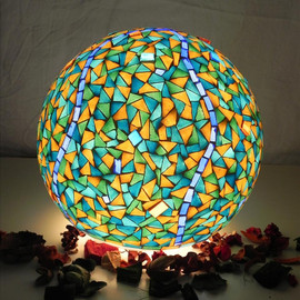 mooz - Blue mosque table lamp