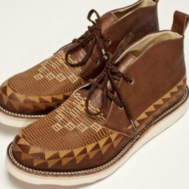 White Mountaineering - Leather Chukka   Brown