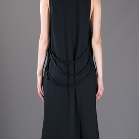 ANN DEMEULEMEESTER - Back strap detailed dress