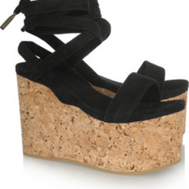 Isabel Marant - Suzy suede and cork wedge sandals