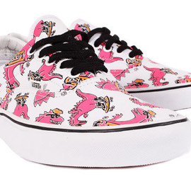 VANS - ERA VANOSAUR TRUE WHITE / PINK / LIGHTENING