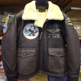 "TOYS McCOY - JACKETS,WINTER,LIGHT BuAERO-U.S.NAVY SPECIFICATION M444A ""FELIX THE CAT"""