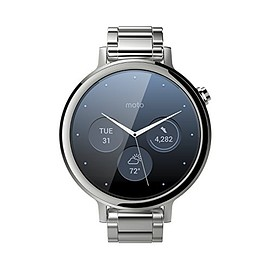 Motorola - Motorola Moto 360 (2nd Gen.) - Womens 42mm, Silver with Silver Metal