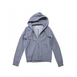 TAKAHIROMIYASHITA The SoloIst - long zip hoody. -gray.-