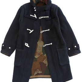 Nigel Cabourn - MONTGOMERY COAT (REVERSIBLE) - DARK NAVY