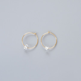 Margaret Solow - Small Herkimer Diamond Hoops