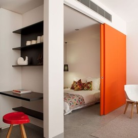 bright sliding doors/room
