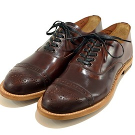 NEEDLES - Unlined Cordovan Shoe - Straight Tip