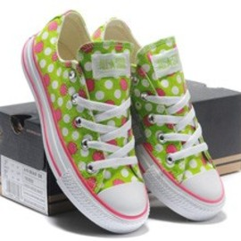 Converse - all star dot green