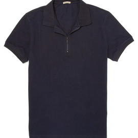 Bottega Veneta - Zipped Polo Shirt