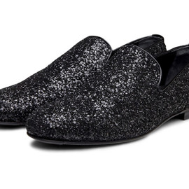 JIMMY CHOO - Glitter Penny Loafers