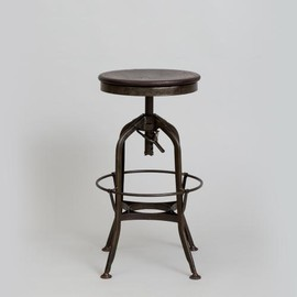Toledo Metal Furniture Company - TOREDO DARK RUST SWIVEL HI STOOL