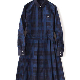 FRED PERRY - Tonal Check Shirt Dress