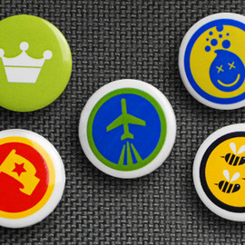 foursquare - 5 Pack of Buttons