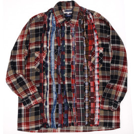 Rebuild By Needles - Rebuild By Needles Flannel Shirt-Ribbon Tape