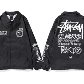 Stussy - X OIL WORKS 10th ANNIVERSARY Coach Jacket
