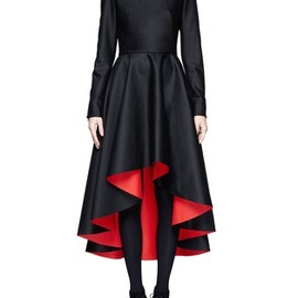 Alexander McQueen - Mandarin collar high-low dress