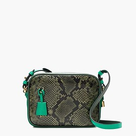 J.CREW - Signet bag in snakeskin-printed colorblock Italian leather