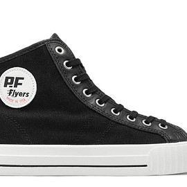 PF-FLYERS - Made in USA Center Hi in Black