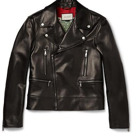 Gucci - Leather Biker Jacket