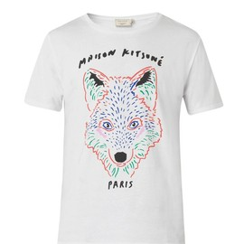 MAISON KITSUNÉ - Fox-print cotton T-shirt