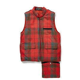 PEEL&LIFT - insideout waistcoat color : Robertson Red Weathered tartan