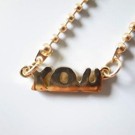 MARC JACOBS - Nameplate Necklace - YOU