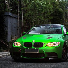 BMW - automotivated:Literally Green