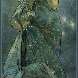Alfons Mucha - Moonlight