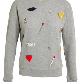 STELLA MCCARTNEY - Embellished Cotton Sweatshirt