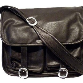 CHROME HEARTS - Bag-Soft Shoulder・Black Heavy Leather