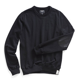 Todd Snyder - leather-patch-sweatshirt-in-black