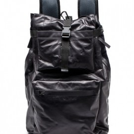 Lanvin - PAPER LEATHER AND NYLON BACKPAK