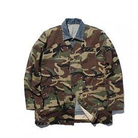 SOPHNET. - SOPHNET. x MADNESS FAKE LAYERED BLOUSON