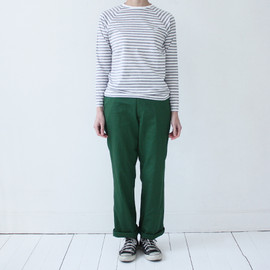 Charpentier de Vaisseau - Middle Stripe Long Sleeve Grey×White