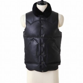 Rocky Mountain Featherbed - LEATHER DOWN VEST