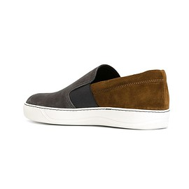 lanvin - nubuck and suede slip-on sneakers