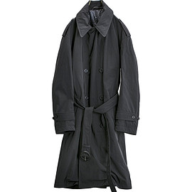 NYUZELESS - water riollent long trench down coat