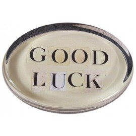 JOHN DERIAN - Oval Paperweight - Good Luck