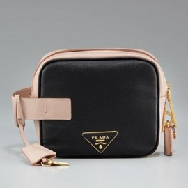 PRADA - 2012S/S☆☆円高還元☆Prada Saffiano Leather Little Box Clutch Bag  1